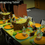 Kid's Thanksgiving Table