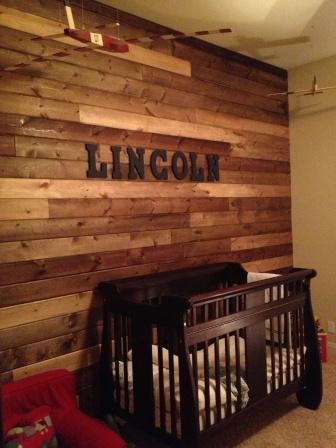 Diy Cedar Wood Plank Wall Child S Room