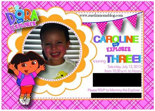 Dora The Explorer Birthday Party
