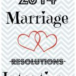 2014: Marriage Resolutions