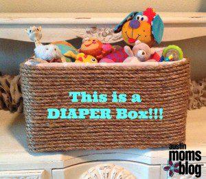 Diaper Box Turned Basket