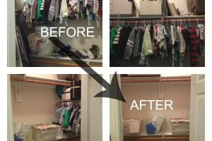 Closet Reorganization - Final BEFORE and AFTER
