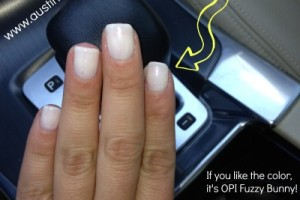 Manicure with OPI Fuzzy Bunny, Austin Moms Blog