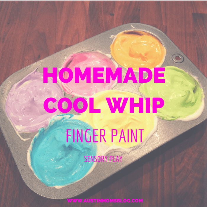 Homemade Cool Whip Finger Paint