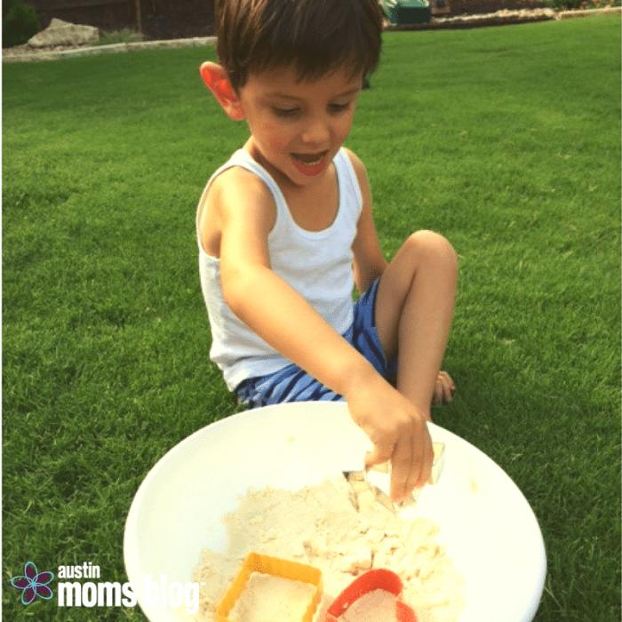 DIY Moon Sand, Austin Moms Blog