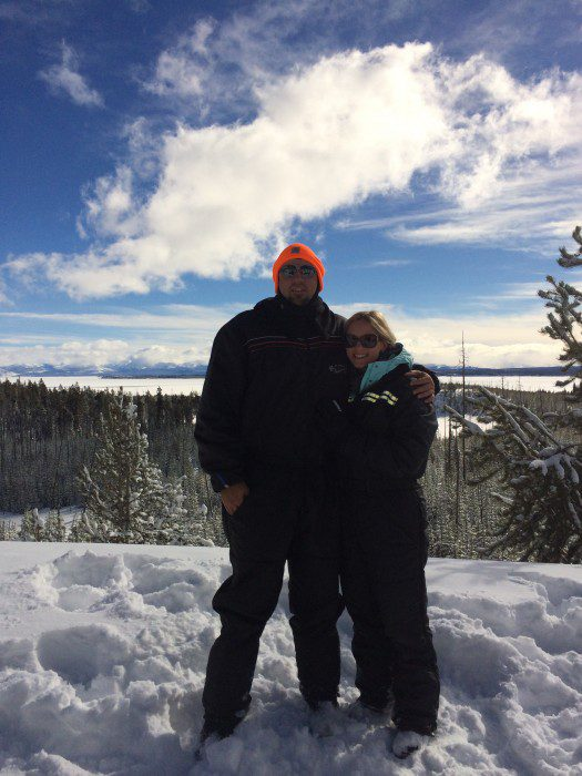 Chelsea and Cloudy at Yellowstone
