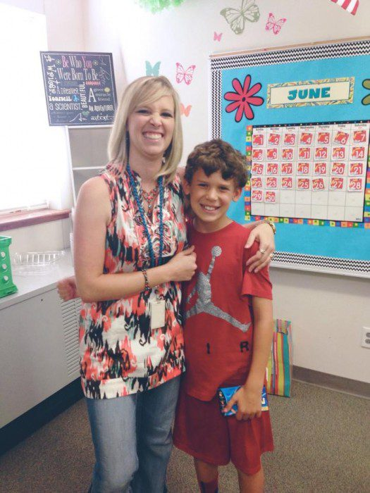 Kid with teacher