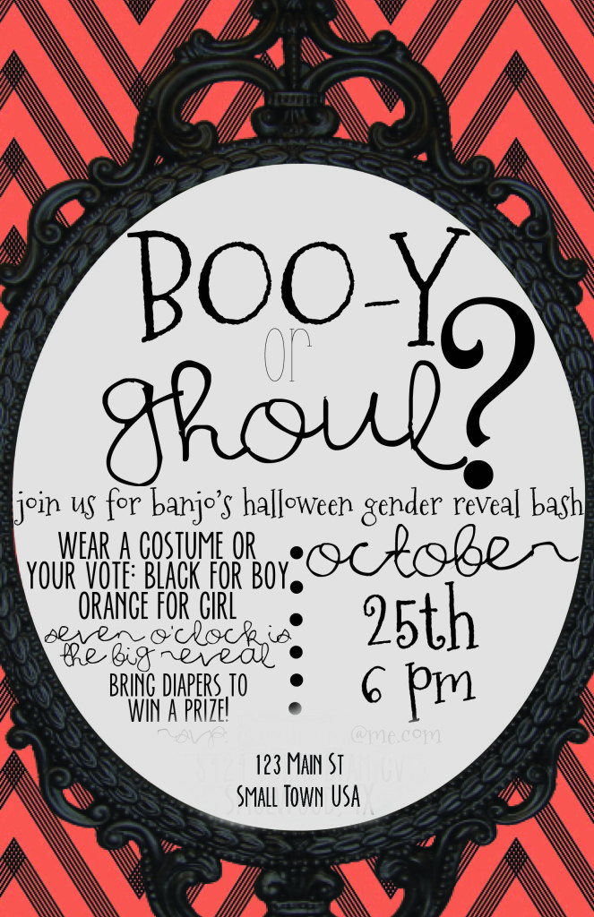 halloween gender reveal idea boo y of ghoul austin moms blog - Halloween My Picture