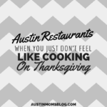 Top 5 Restaurants If You Just Don't Feel Like Cooking on Thanksgiving.