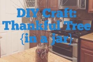 DIY Thankful Tree in a Jar