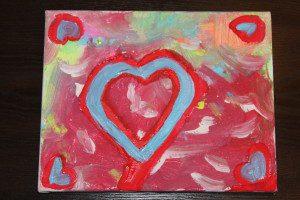 Austin Moms Blog-Malu-Valentine's Day Crafts-Heart Art Final