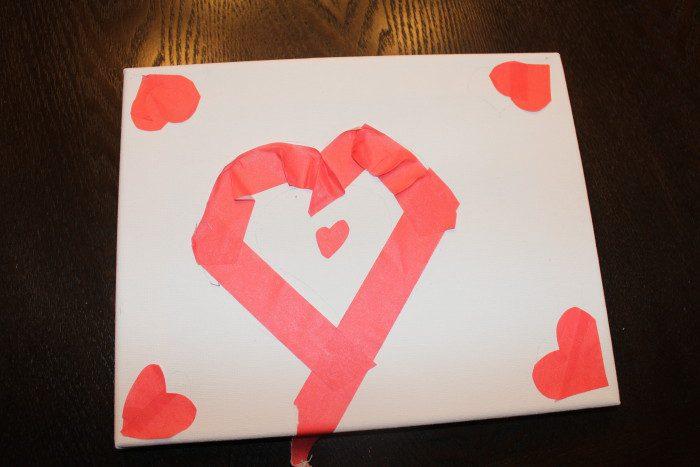 Austin Moms Blog-Malu-Valentine's Day Crafts-Heart art canvas