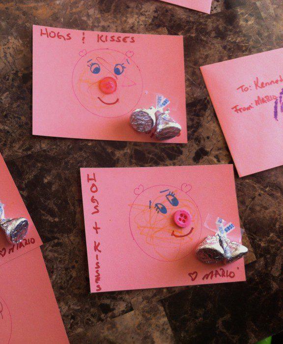 Austin Moms Blog-Malu-Valentine's Day Crafts-Hogs and Kisses