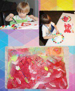Austin Moms Blog-Malu-Valentine's Day Crafts-heart art 2