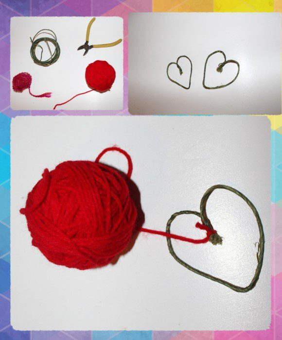 Austin Moms Blog-Malu-Valentine's Day Crafts-yarn heart