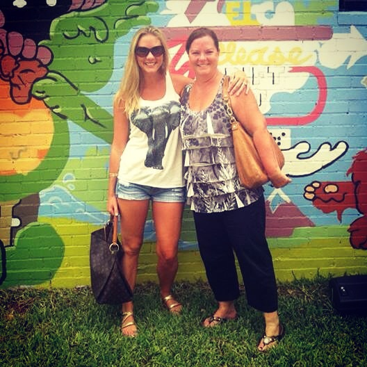 Chelsea Vail with mom at Bouldin Creek