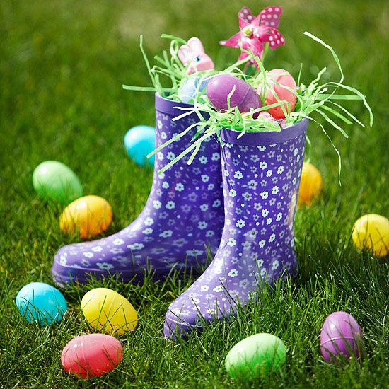 25 creative easter basket alternatives rainboots april showers bring may flowers and really adorable boots to fill rainbooteaster negle Choice Image