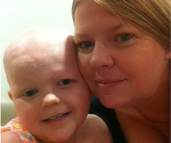 My daughter and I before her first radiation treatment
