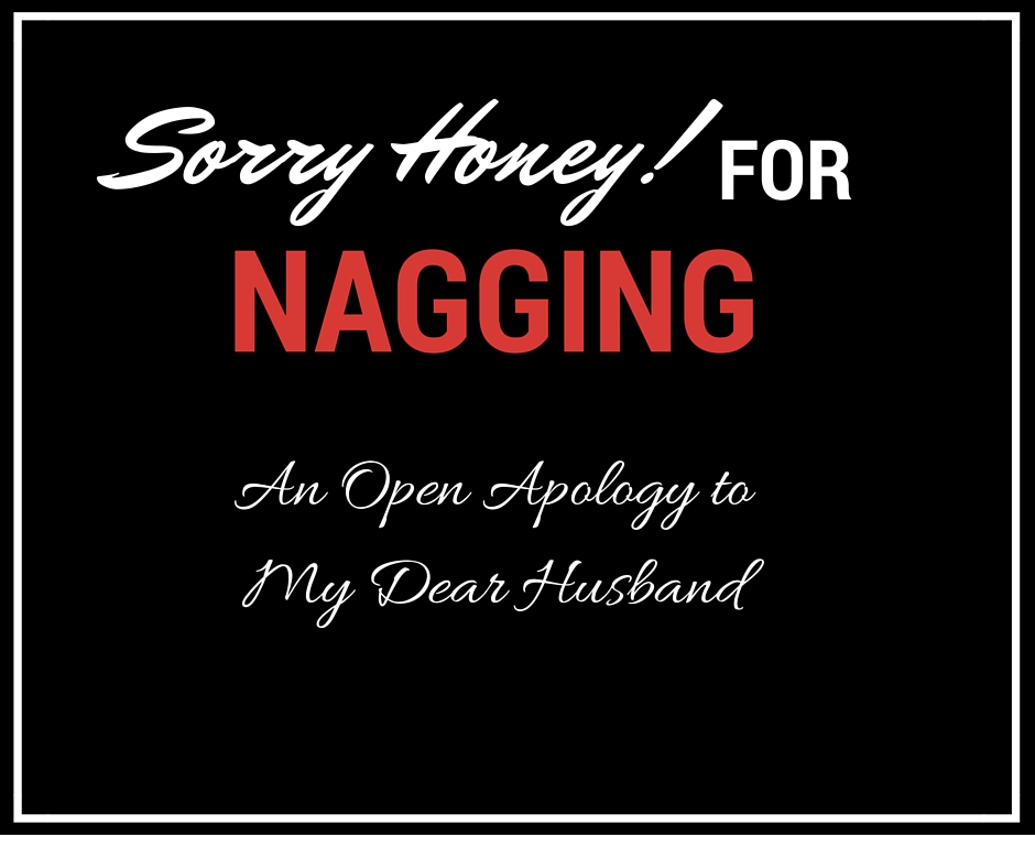 An Open Apology to My Dear Husband