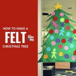 DIY: How to Make a Felt Christmas Tree