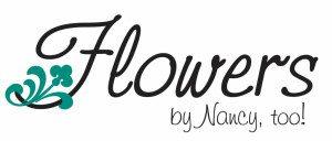 Flowers by Nancy, too logo teal
