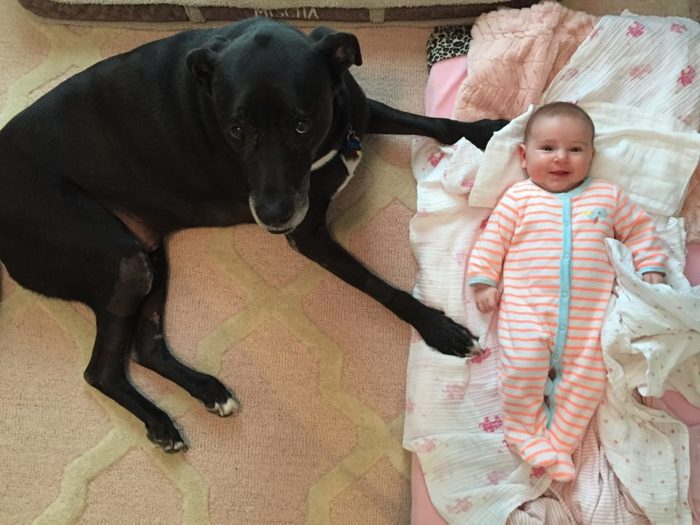 This is Beau Jackson with her 4-month-old sister.