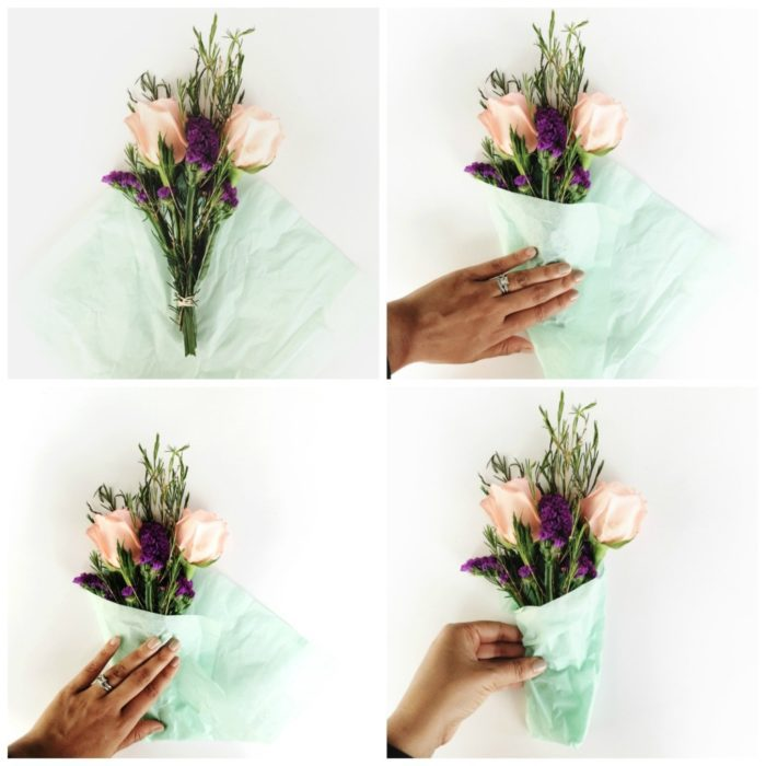 mini bouquet steps