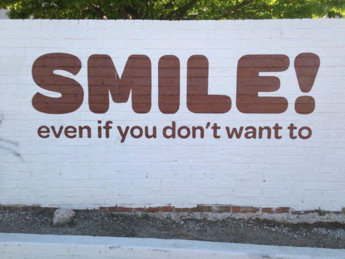 SMILE mural Austin mural scavenger hunt