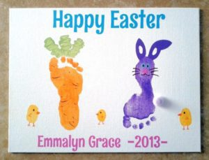 Baby Carrot Feet Easter Craft
