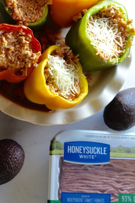 Honwy Suckle White Hatch Chili Stuffed Peppers   Austin Moms Blog   Erin Ruoff   Ground Turkey Recipes