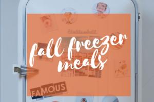 fall freezer meals