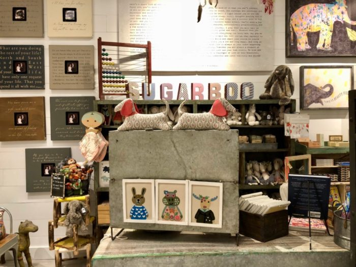 baby products in Sugarboo & Co. gift shop