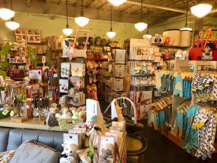 interior of Enlightened Baby store