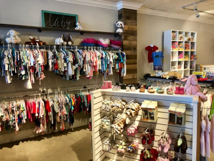 interior of Bright Beginnings baby store