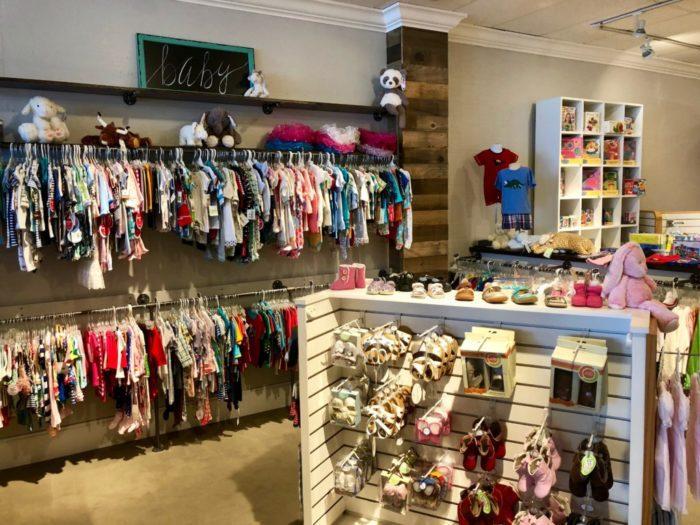 interior of Bright Beginnings baby store