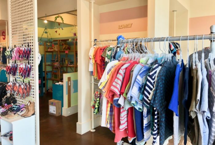 photo of clothing at SparkleKids consignment store