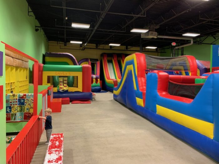 interior of Hoppin' House inflatable play area