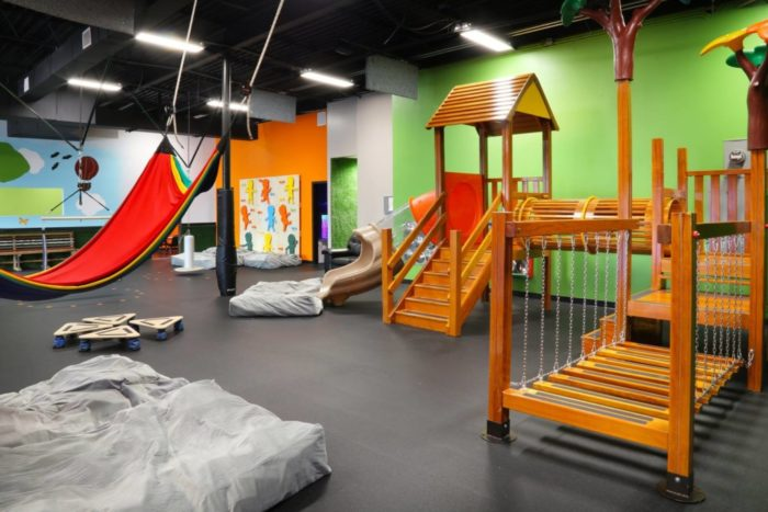 interior of little land play gym