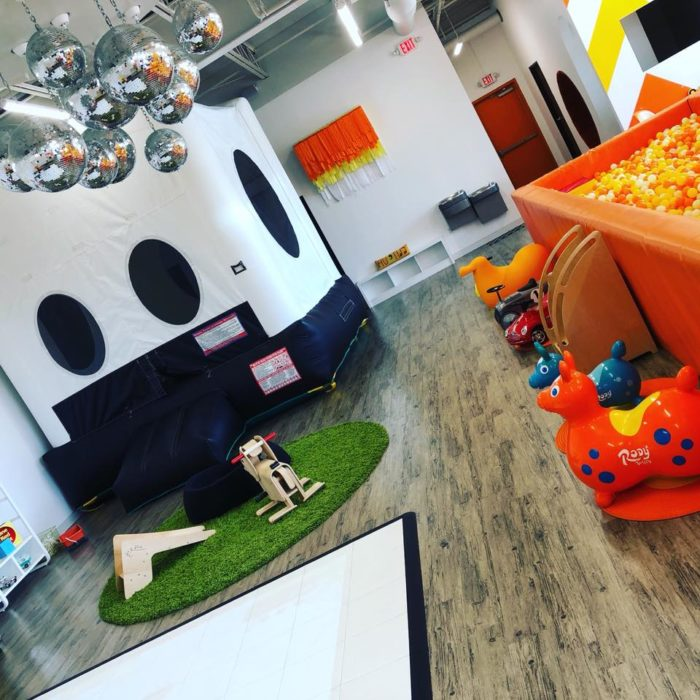 play area at the coop