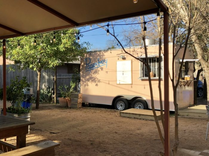 paperboy food truck at radio coffee and beer in austin, texas