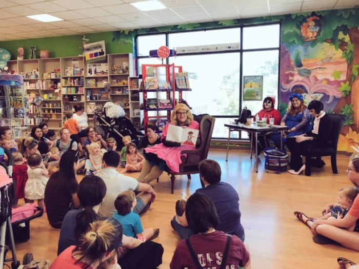 storytime at BookPeople book store in Austin, Texas