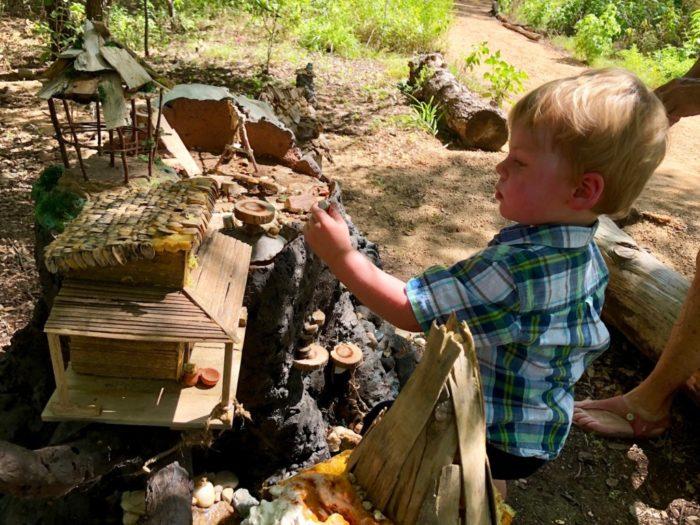 Woodland Faerie Trail at Zilker Botanical Gardens in Austin, Texas