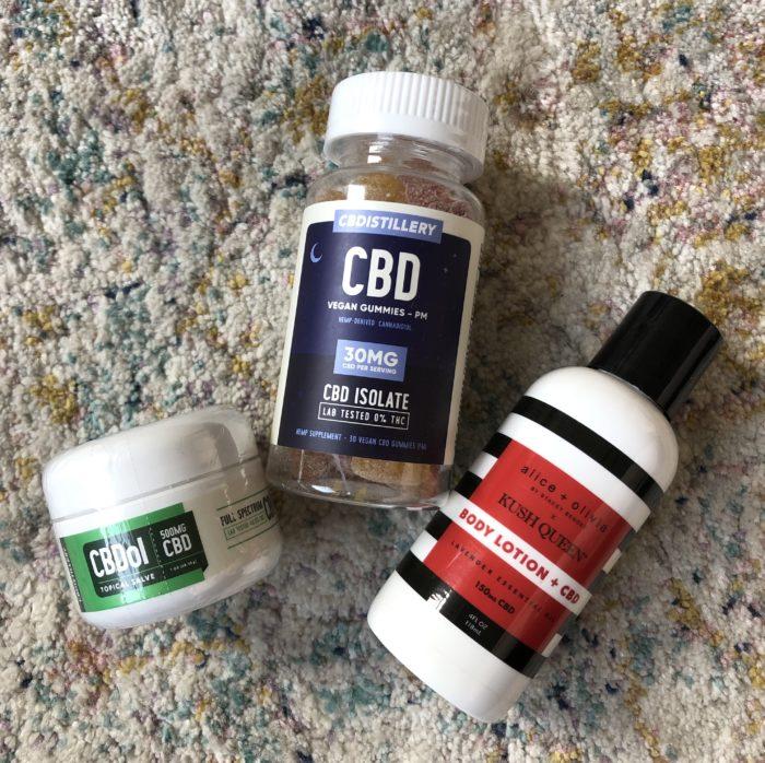 CBD lotion and CBD gummies
