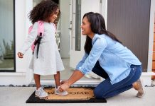 Back to School Traditions-Tashara Angelle- First Day of School, Mom and daughter